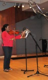 Violist Amber Archibald in the KUHF Performance Studio