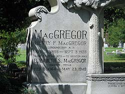 MacGregor grave at Glenwood Cemetery