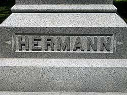 Hermann grave at Glenwood Cemetery