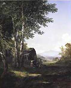John Frederick Kensett's Distant View of the Mansfield Mountain