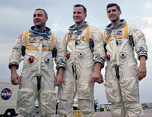 image of Roger Chafee, Edward White and Gus Grissom