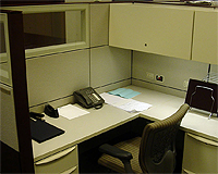 image of empty office desk