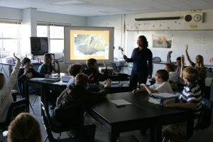 Students participating in the teachHouston program