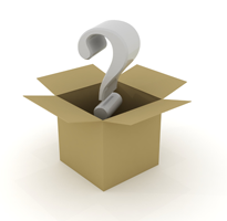 image of box of questions