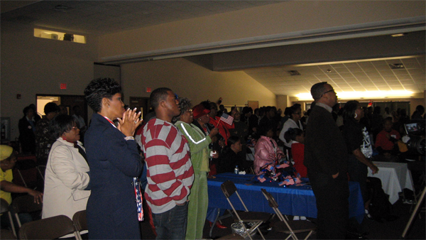 image of hundreds of people gathered at Wheeler Avenue Baptist Church in the heart of the Third Ward