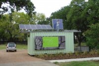 Solar powered shipping containers as offices