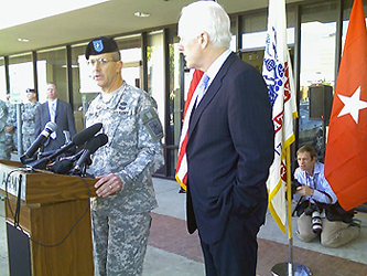 image of Brigadier General Dell Turner speaking