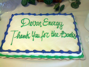 image of Thank you cake to Devon Energy