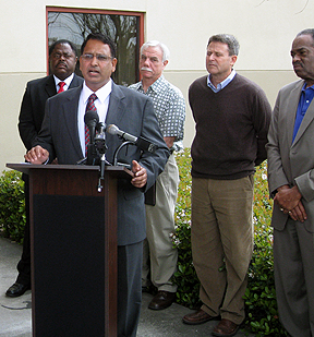 image of Housing Authority Director Harish Krishnarao speaking