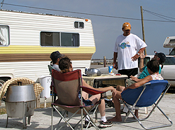 image of James Andrews  and cres at trailer park