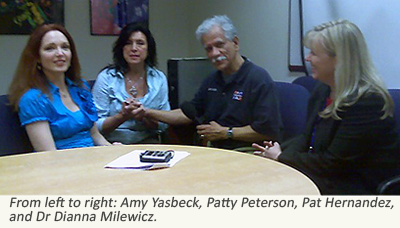 image of Amy Yasbeck, Patty Peterson, Pat Hernandez, and Dr. Dianna Milewicz
