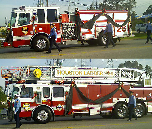 image of 2 firetrucks
