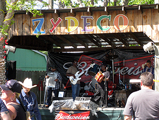 image of band playing at The Texas Crawfish and Music Festival