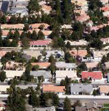 image of neighborhood roof tops