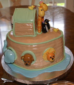 image of Noah's Ark cake