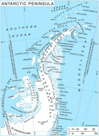 Map of the Antarctic Peninsula