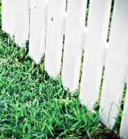 image of white fence