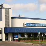 When General Motors filed for bankruptcy, it announced it would close 40 percent of its dealerships. Knapp Chevrolet on the western edge of downtown is one of those dealerships facing closure. Laurie Johnson has more.