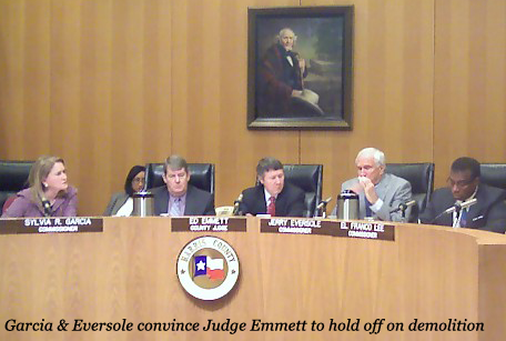 Garcia & Eversole convince Judge Emmett to hold off on demolition