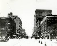 Downtown Houston in the early 1900s