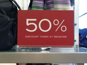 sale discount sign