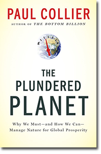 Paul Collier's The Plundered Planet cover