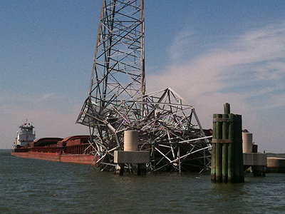 Houston-Ship Channel downed power line
