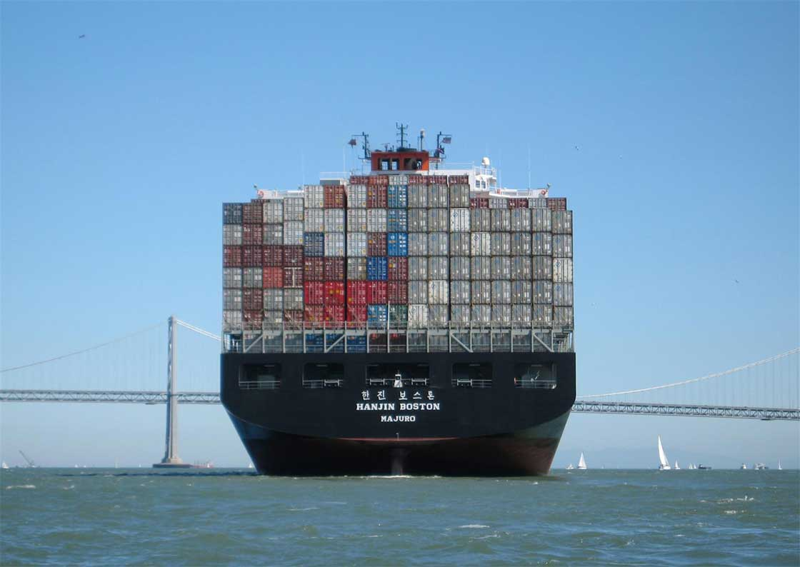 South Korean Container Ship