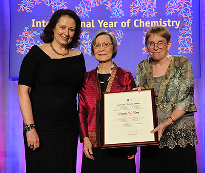 Moy was recently honored by the American Chemical Society