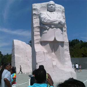 Martin Luther King, Jr Memorial, one inscription on inscription wall