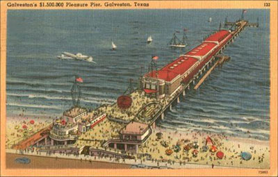 Past rendition of Galveston's Pleasure Pier
