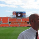 On Saturday, the Houston Dynamo will play its first game in a brand-new stadium built specifically for soccer. It's called the BBVA Compass Stadium. The 22,000 seat venue was built in less than a year-and-a-half on a plot of land just east of downtown Houston. The $95 million price tag was split between the City of Houston, Harris County, and the team, with Dynamo owners picking up about two-thirds of the cost. KUHF's David Pitman dropped by to talk with stadium General Manager Doug Hall about the speed at which this stadium was completed, what the parking situation will be like — with so many venues now downtown, and to ask about the chances of the stadium earning a more user-friendly nickname.