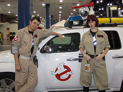 Members of the Houston Ghostbusters