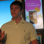 Texting and driving don't mix. A young college student is lucky to be alive after being involved in a vehicle accident while texting. He joined a wireless provider in announcing a nationwide campaign to urge people to make a lifelong commitment never to text while driving.