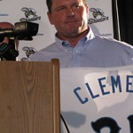 Roger Clemens is back on the mound again tonight for the Sugar Land Skeeters, but this time he'll be pitching to his son. The father-son combination will be seen nationwide.