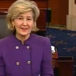 The first woman to represent Texas in the U.S. Senate said goodbye today.