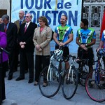 The eighth annual Tour de Houston is on hand this weekend. Thousands of cyclists will line up at City Hall Sunday morning for a fundraiser to benefit Houston parks.