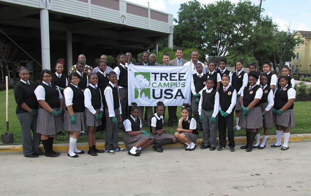 tree campus usa students and teachers