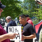 Gun control has been a heated debate this year. These images captured both the NRA annual event inside the George R. Brown Convention Center and outside on the lawn of Discovery Green where opposition to the NRA stood.