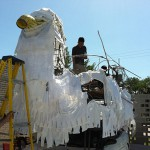 """Saturday, 279 decorated vehicles will cruise along Allen Parkway in what organizers call the """"largest celebration of art cars in the world."""" There's one entry from students at Sharpstown International School thatlooks like a giant white dove. Why? The answer is part whimsy, part statement."""
