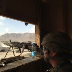 KUHF reporter Andrew Schneider recently returned from a month-long embed in southern Afghanistan. In the first of a four-part series, Andrew describes life at a remote outpost for a Texas-based unit.