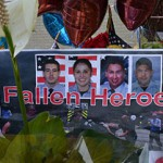 During Friday's 5-alarm fire, a roof collapsed killing four firefighters. Throughout the weekend citizens from around the community have come by Houston Fire Station #51 in Bellaire and Houston Fire Station #68 in Houston. People left balloons, flowers and donations to pay their respects to the fallen firefighters. An official Memorial will take place at Reliant Stadium on Wednesday, June 5, 2013 at 10 a.m.