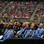 Thousands attended a memorial service today for the four Houston firefighters killed while battling a motel fire last week. It was a somber ceremony for the three men and one woman who died doing jobs they loved. The service celebrated their lives and legacy within the Houston community.