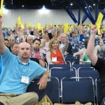 Southern Baptists wrapped up their annual convention at the George R. Brown Convention Center in downtown Houston. The convention, which represents the largest Protestant denomination in the U.S., voted to criticize the Boy Scouts for its new policy on gay members.