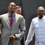 """Saturday, June 13, 2013 was the official signing of Dwight Howard to the Rockets. Despite the nearly 100 degree weather, with an estimated 10,000 fans gathered around the Toyota Center chanting, """"We want Dwight! We Want Dwight!"""" as they waited for the newest Rocket to make his appearance."""