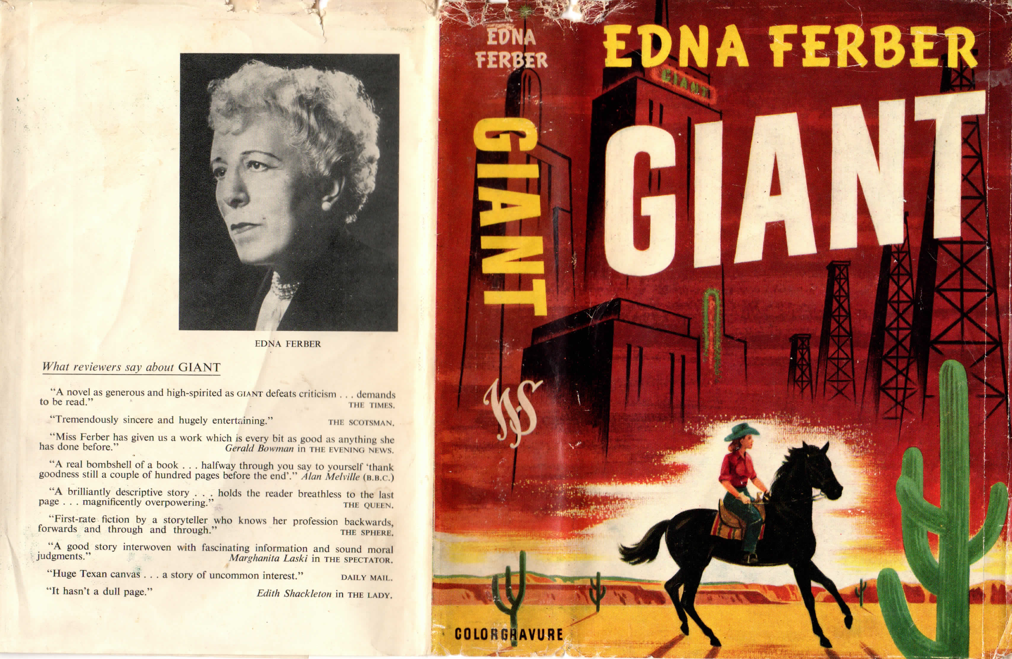 open book cover for Giant