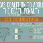 One third of all new Texas death sentences last year came from Dallas County, and the majority of condemned prisoners were minorities. The Texas Coalition to Abolish the Death Penalty published a report about the state's capital punishment system.