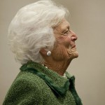 HOUSTON (AP) — Barbara Bush remains hospitalized with a respiratory-related issue.