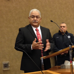 Harris County Commissioners met in special session and approved the nomination of Henry Martinez as Precinct 6 new constable. He was sworn in to replace Victor Trevino, who resigned in disgrace earlier this month.