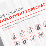 The partnership estimates that the Houston metropolitan area will add jobs in 2015, but it's not all positive for the energy sector.